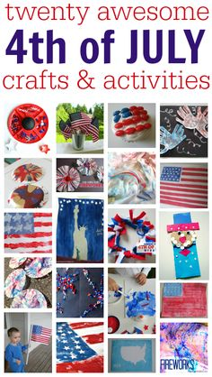 4th of July crafts and acitivties your kids will LOVE.