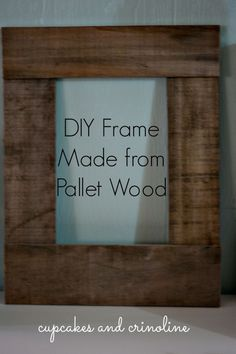 DIY Pallet Frame | This frame took all of 10 minutes to make from start to finish.