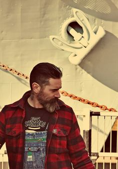 Rockabilly Sweat College Jacke Anchor Mustache Bart Anker Beach