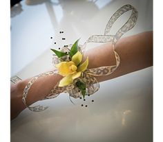 Prom Wristlets - Photo Courtesy: Floral design created by Tricia Upshaw, AIFD, AMF and Aaron Lemaster of Shirley's Flower Studio Rogers, Arkansas. Photography by Lumos Images Rogers Arkansas, Prom Flowers, Flower Studio, Prom Night, Corsage, Wristlets, Floral Design, Photography, Fotografie