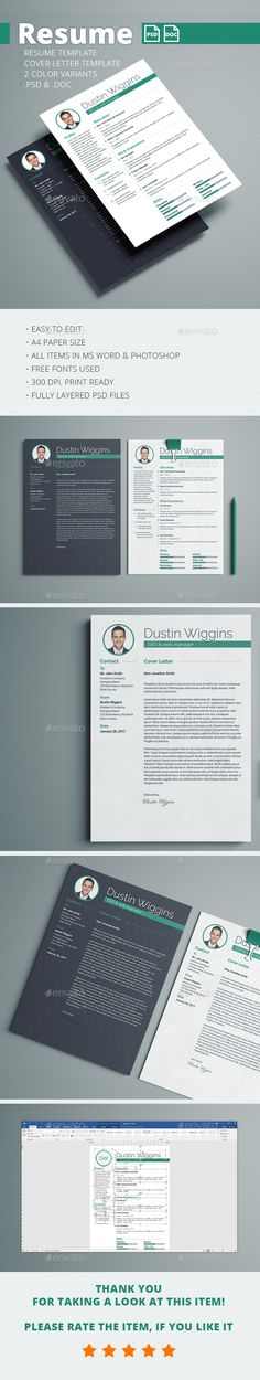 Clean Resume Resume cv, Cv template and Modern resume - template for resumes