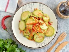 Appetizer Salads, Appetizers, Zucchini, Vegetables, Recipes, Food, Salads, Meal, Food Recipes
