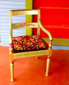 Prida's one-of-a-kind furniture designs are distinctively indigenous with her use of the huipil in many of the pieces