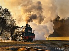 """South African Locomotive """"Cheugnette"""" at Sunrise by Mitchell Krog"""