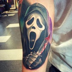 Check out our gallery to get Best Horror Movie Tattoos For Men. Future Tattoos, Love Tattoos, Body Art Tattoos, Tribal Tattoos, Tattoos For Guys, Dark Tattoo, I Tattoo, Horror Movie Tattoos, Horror Movies