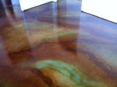 concrete floor stain colors, photos of concrete dye This is a brown acid stain on raw