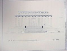 Lincoln Memorial Blueprint by BlueprintPlace on Etsy