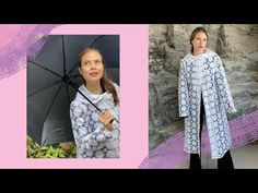 Hice una gabardina para lluvia con tela de mantel | Por solo $80 pesos - YouTube Sewing School, Kimono Top, Dresses With Sleeves, Long Sleeve, Youtube, Women, Fashion, Craft, Sewing Basics