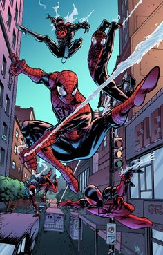 The Spiderverse Spiderman, Spiderman Spiderman(Miles Morales), Scarlet Spider, Comics Anime, Marvel Comics Art, Ms Marvel, Marvel Heroes, Amazing Spiderman, All Spiderman, Spiderman Poses, Scarlet Spider, Comic Book Characters