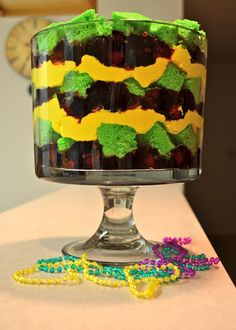 Mardi Gras Trifle (White Chocolate Raspberry) Recipe by @Heather Creswell Landherr