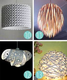 Cool set of DIY origami lamps - check the full article to see more.