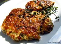 Plátky krkovice pečené se šlehačkou, dijonskou hořčicí, balsamikovým octem a tymiánem