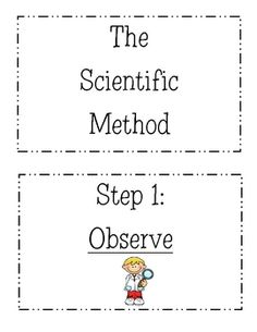 "FREE SCIENCE LESSON - ""Scientific Method Display Posters"" - Go to The Best of Teacher Entrepreneurs for this and hundreds of free lessons. 1st Grade Science, Kindergarten Science, Elementary Science, Science Classroom, Teaching Science, Science Education, Science For Kids, Science Fun, Classroom Ideas"