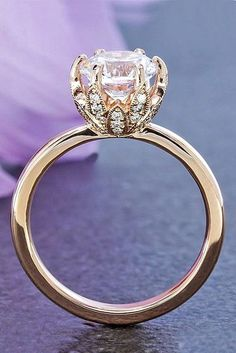 Rose gold engagement rings have a feminine and romantic look. These rings is a fantastic choice for people with warm and cooler skin tones. You'll like it! >>> You can get more details by clicking on the image. #BestJewelry