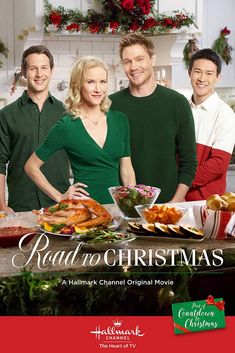 """Its a Wonderful Movie - Your Guide to Family and Christmas Movies on TV: Road to Christmas - a Hallmark Channel """"Countdown to Christmas"""" Movie starring Jessy Schram, Chad Michael Murray & Teryl Rothery! Hallmark Channel, Películas Hallmark, Films Hallmark, Hallmark Holiday Movies, Family Christmas Movies, Hallmark Holidays, Christmas Shows, Christmas Poster, Family Movies"""
