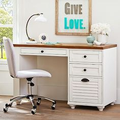 Save big when you shop Pottery Barn Teen's sale on teen bedding, furniture and decor. Find favorites in teen sale and give the room a boost of style. Desk Storage, Storage Cabinets, Colorful Furniture, Furniture Decor, Teen Desk, Cream Furniture, Computer Desk Setup, Desks For Small Spaces, Pedestal Desk