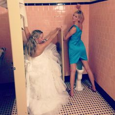 Be prepared...there is a picture or me peeing in my wedding dress...we need at least one of u in yours!!! <3