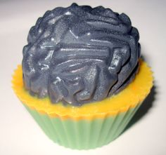 Mad Scientist Brain Cupcake Soap  Handmade Goat by StardustSoaps, $6.00