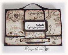 МК: открытка-портфель. Обсуждение на LiveInternet - Российский Сервис Онлайн-Дневников