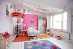 This kids room oozes individuality and authenticity, breaks the rules and sparks the imagination.