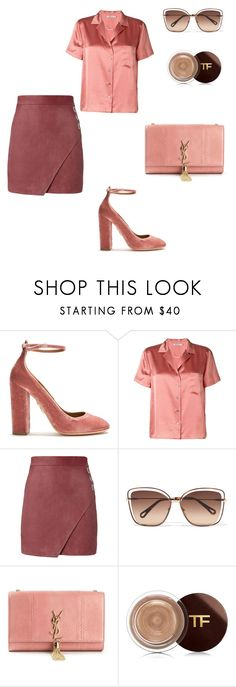 """I've got my mind set on you"" by kamiren ❤ liked on Polyvore featuring Aquazzura, T By Alexander Wang, Michelle Mason, Chloé, Yves Saint Laurent and Tom Ford"