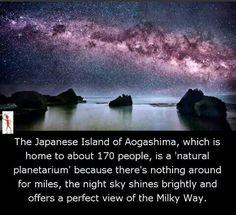 Natural planetarium at Japan