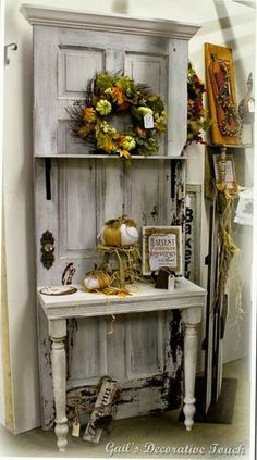 Umm... if you have a door that cool, why wouldn't you use it in your house? Seems like you would have to buy it at a flea market specifically for this purpose, and fancy vintage doors can be crazy expensive! (They do have some other cool ideas on this page, though).