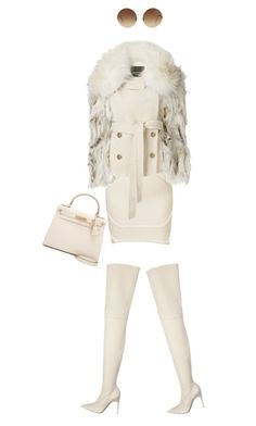 """Untitled #17"" by ms-hinds ❤ liked on Polyvore featuring Roberto Cavalli, Victoria Beckham and Hermès"