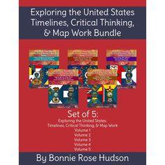 Exploring-the-US-Level-3-Bundle Pattern Block Templates, Pattern Blocks, Free Pattern, Us Geography, School Organization, Organizing, School Grades, Homeschool Curriculum, Critical Thinking