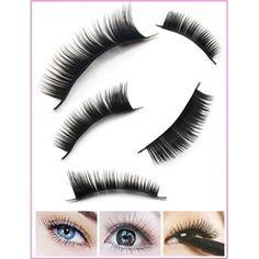 Easy2Life 10 Pairs Of Beautiful Long Black False Eyelashes Eye Lashes Style Makeup (play.com)