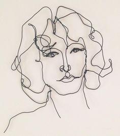 Jim Morrison. Wire portrait. #morphingpot #etsyart #jimmorrison #wirewallart…