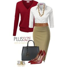Work Outfit -- #Plus Size