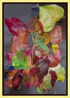 "made by autumn leaves - Ανθομέλι: ""Έργο Τέχνης"" με φθινοπωρινά φύλλα"