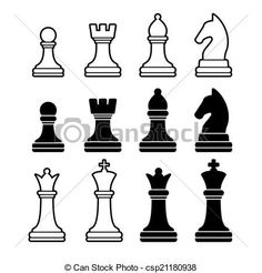 templates for chess pieces - Google Search