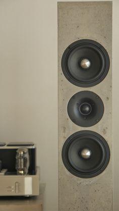 BETONart-Audio High end Lautsprecher aus Gussbeton - für Individualisten mit Sinn für Musik & Ästhetik - Pure concrete - rich in emotions