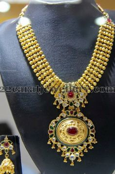 Jewellery Designs: Antique Necklace by Subham Jewellers