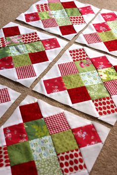 Granny square Could be a great Christmas quilt