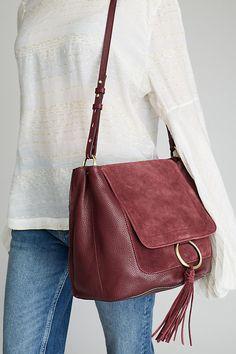 Slide View: 2: April Suede Shoulder Bag