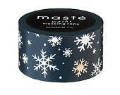 Snowflake 'snow star' christmas washi tape by Masté Masking Tape Japan