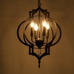 159.98$  Buy now - http://alirxs.worldwells.pw/go.php?t=32769466838 - Creative Personality Vintage Chandelier Lamp Restaurant Cafe American Living Room Pendantlight Wrought Iron E14 4 Heads WPL175