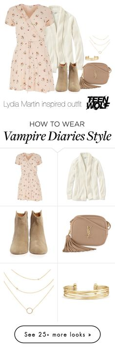 """Lydia Martin inspired outfit /TW"" by tvdsarahmichele on Polyvore featuring L.L.Bean, Yves Saint Laurent, River Island, Isabel Marant, Stella & Dot and plus size clothing"