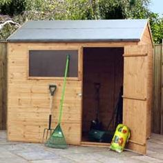 Buy Mercia FSC Shiplap Reverse Apex Shed 8 x 6ft at Guaranteed Cheapest Prices with Rapid Delivery available now at Greenfingers.com, the UK's #1 Online Garden Centre.