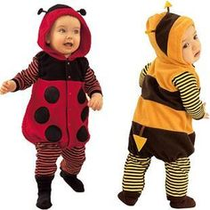 Halloween Infant Toddlers baby boy girl bee ladybug costume outfit ramper outfit