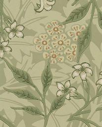Tapet Jasmine Sage/Leaf från William Morris & Co
