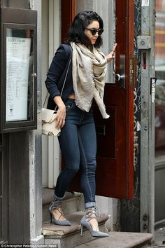 Stylish Saturday: Vanessa Hudgens looked stunning as she walks out and about in New York C...