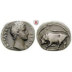 Römische Kaiserzeit, Augustus, Denar 15-13 v.Chr., ss-vz: Augustus 27 v.-14 n.Chr. Denar 19 mm 15-13 v.Chr. Lyon. Kopf r. AVGVSTVS… #coins