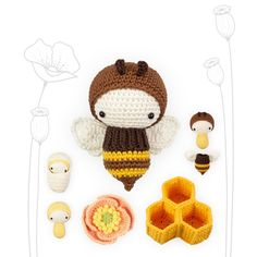 Lalylala Crochet Kit Bee Amigurumi Honey Bumble Poppy Life | Etsy