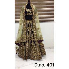 Exclusive Bridal Designer Lehenga ( D.No.401 )