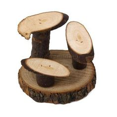 Natural Wooden Mushroom Stand Mice Hamsters Degus & Small Rodents Cage Toy