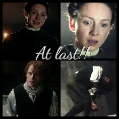 They finally reunite he is happy to see her but padt out after the fact.... Jamie&Claire true love Hurry up episode 6